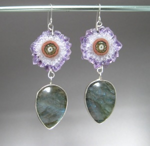 Stalactite & Labradorite Earrings