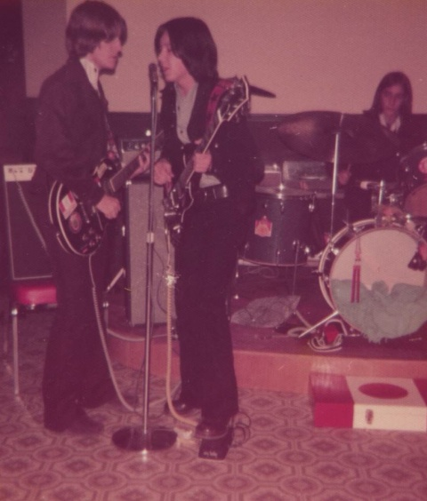 Wayne Bernie & Danny playing in the band back in the day.
