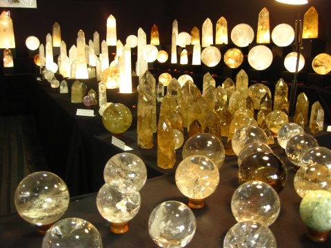 Crystal Balls & Obelisks - Tucson Gem Shows 2013