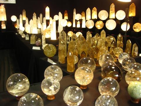 Crystal Balls & Obelisks - Tucson Gem Shows 2013