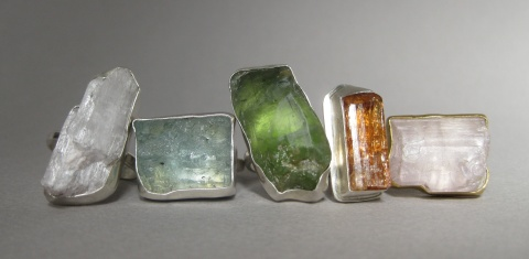 Raw Crystal Rings