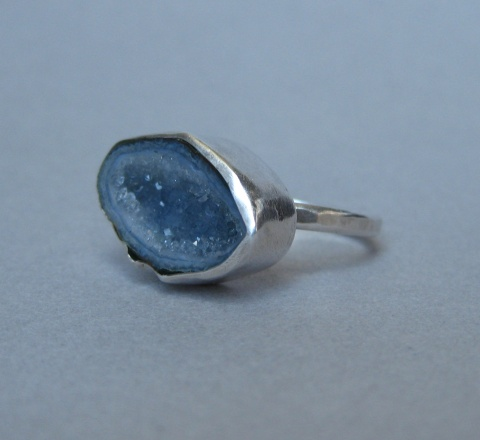 Baby (Blue) Geode Ring