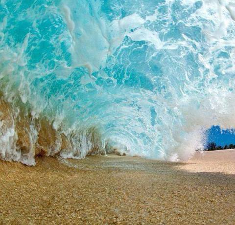 Gorgeous Sand & Surf. Uncredited. If you know the photographer I would love to credit this amazing shot!