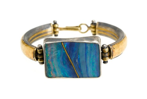 "Judy Geib ""Repaired"" Opal Bracelet"