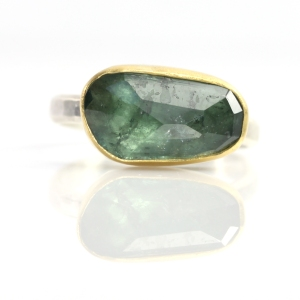 Blue Rose Cut Tourmaline Ring