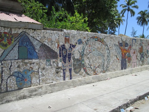 Part of the Mosaic Wall In Jacmel