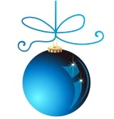 bluechristmasornament