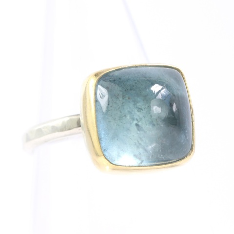 Sugarloaf Cabochon Aquamarine Ring