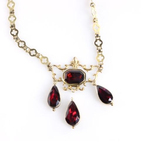 Heirloom Garnet Necklace