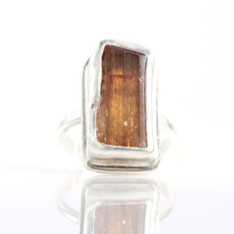 Raw Topaz Crystal Ring