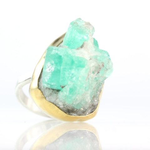 Emerald Specimen Ring