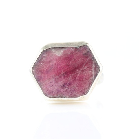 Raw Ruby Slice Ring