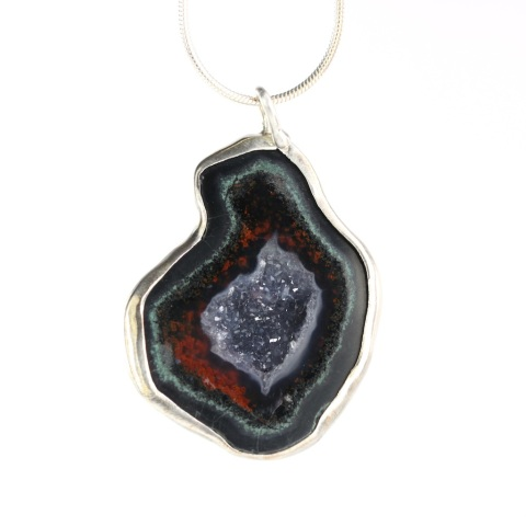 Red Geode Pendant