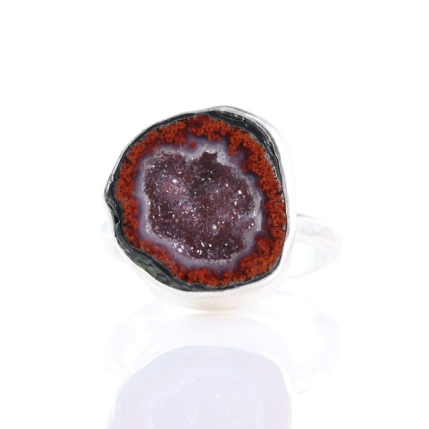 Red Geode Ring 2-1025