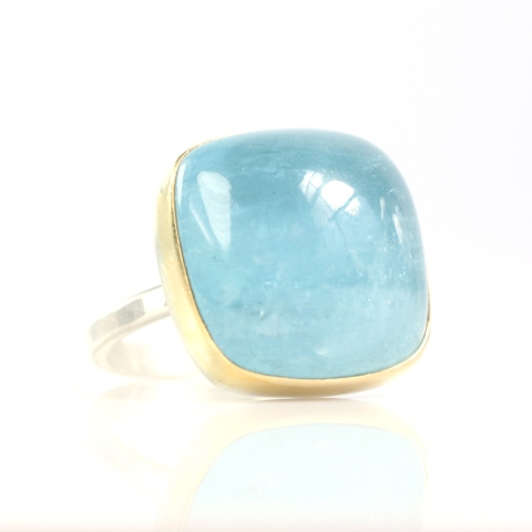 BIG Sugarloaf Aquamarine Ring