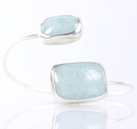 Double Aquamarine Bangle 2015.JPG