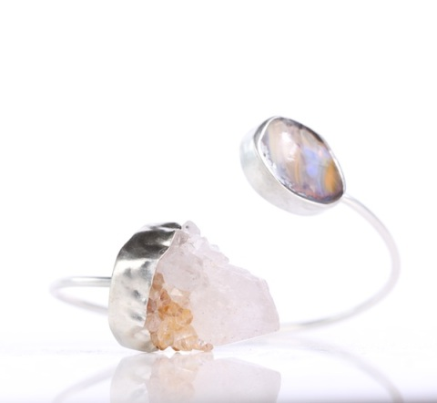 Raw_Crystal_Quartz_Boulder_Opal_Bangle 2016